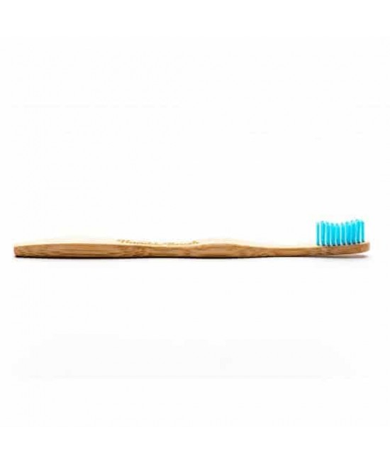 Periuță de dinți BIO din bambus pentru adulți - Humble albastră Soft