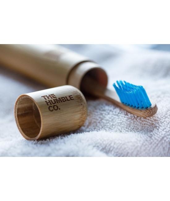Suport (etui, toc) Humble din bambus antibacterian și igienic pentru periuțele de dinți
