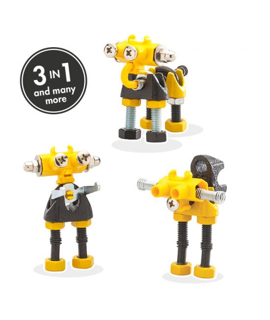 InfoBit - 3 în 1 Character Kit The OFFBITS - set de construit cu șuruburi și piulițe