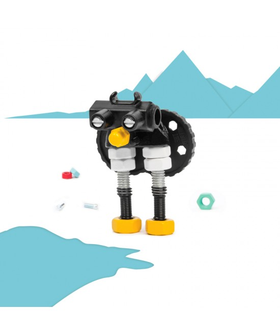PinguBit - Animal Kit The OFFBITS - set de construit cu șuruburi și piulițe