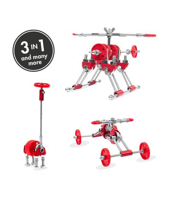SkyBit - 3 în 1 Transportation Kit The OFFBITS - set de construit cu șuruburi și piulițe