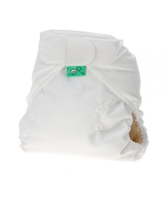 Cover pentru scutece (stretchy wraps) Tots Bots cu arici - White (alb) - mărime mare