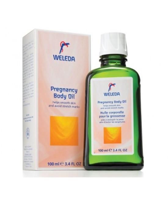 Ulei natural Weleda de corp pentru gravide anti-vergeturi