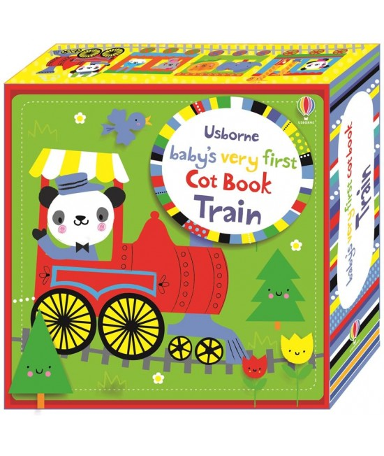 Baby's very first Cot book: Train - Baby's very first cloth books and cot books - Stella Baggot