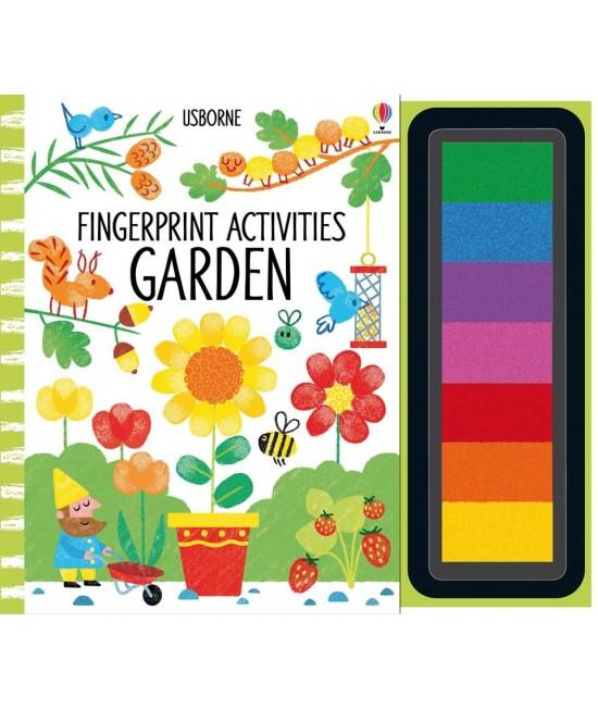 Fingerprint activities: Garden - Fingerprinting and rubber stamps - Candice Whatmore