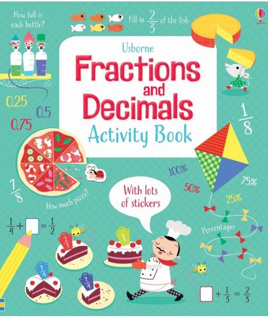 Fractions and decimals activity book - Usborne Maths activity books