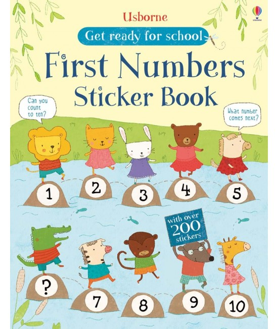 Get ready for school - First Numbers Sticker Book -  Get ready for school sticker books