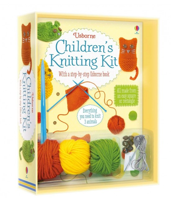 Children's Knitting Kit - Usborne Art and Craft, Knitting and Sewing