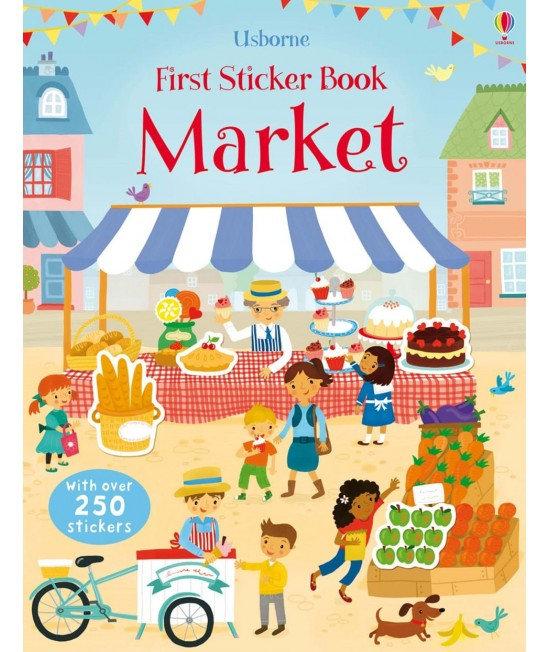 Market - Usborne First Sticker Book