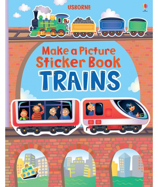 Trains - Make a Picture Sticker Book - Katie Lovell