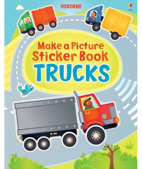 Trucks - Make a Picture Sticker Book - Katie Lovell