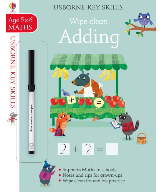 Wipe-clean Adding 5-6 years - Usborne Key Skills