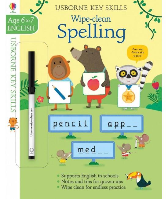 Wipe-clean Spelling 6-7 years - Usborne Key Skills