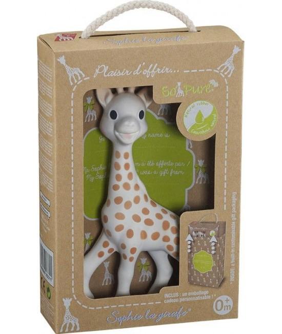 """Girafa Sophie în cutie cadou """"Pret a Offrir"""" - cea mai renumită jucărie de dentiție din cauciuc natural"""