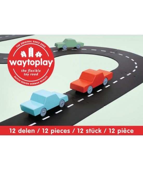 Traseu waytoplay Centura Ocolitoare - 12 piese de cauciuc pentru joacă cu mașinuțe