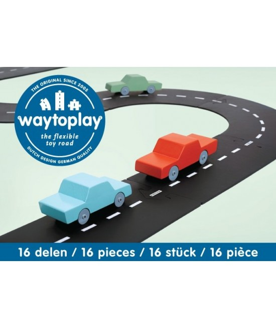 Traseu waytoplay Linie Expres - 16 piese de cauciuc pentru joacă cu mașinuțe