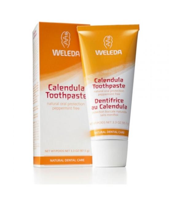 Pastă de dinţi naturală Weleda cu gălbenele