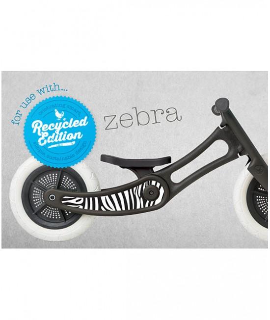Autocolant decorativ pentru bicicleta Wishbone Ediție Reciclată - Zebra