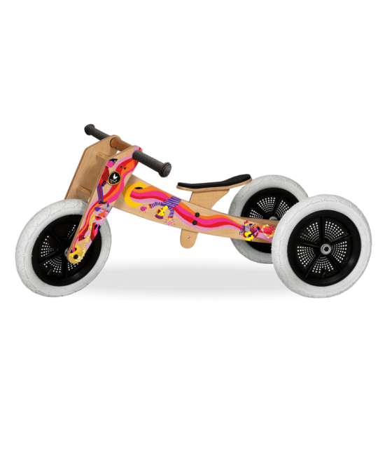 Bicicletă de echilibru Wishbone Design 3-în-1 editie limitata MUSIC (bicicletă din lemn fără pedale)