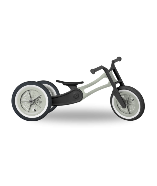 Bicicletă de echilibru Wishbone Design 3-în-1 - Ediţie Reciclată RE2 Raw (bicicletă fără pedale)