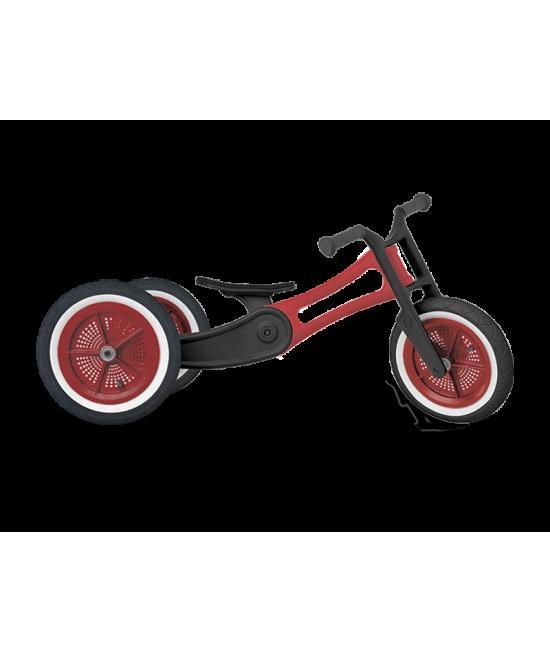 Bicicletă de echilibru Wishbone Design 3-în-1 - Ediţie Reciclată RE2 Red (bicicletă fără pedale)