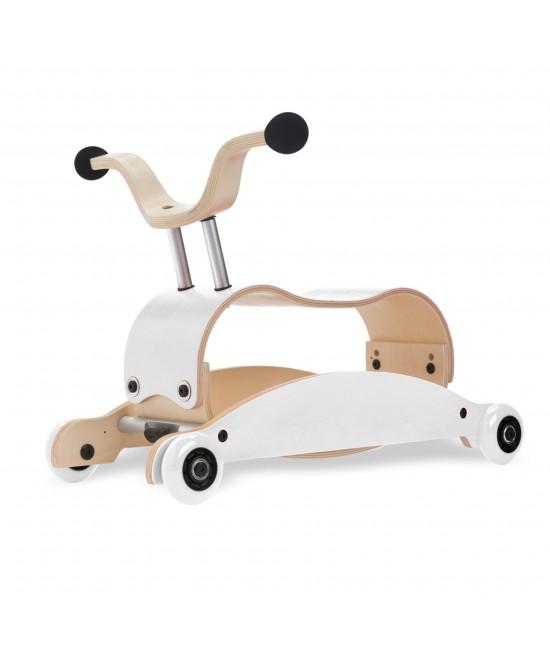 Wishbone Mini-Flip - antemergător / mașină de călărit / balansoar din lemn - Alb