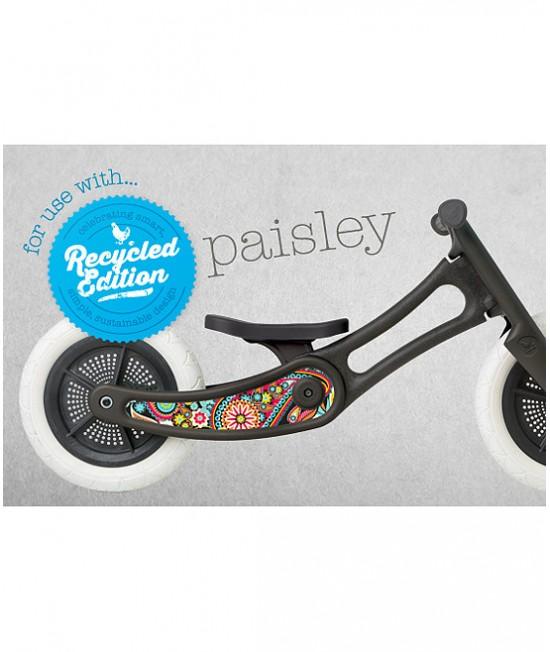 Autocolant decorativ pentru bicicleta Wishbone Ediție Reciclată - Paisley