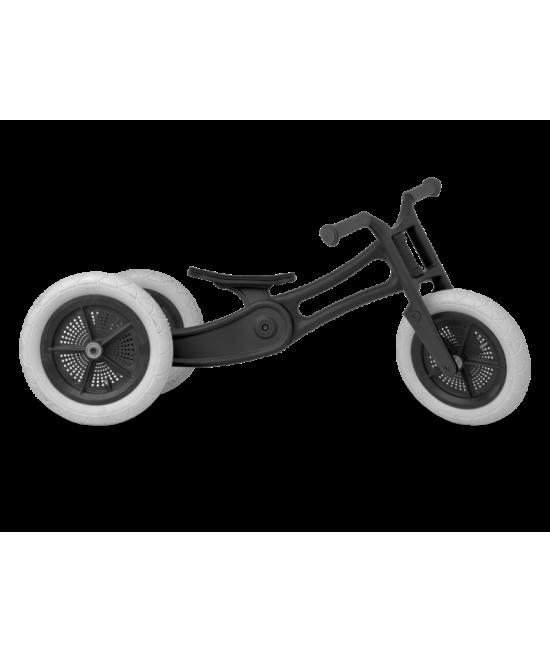 Bicicletă de echilibru Wishbone Design 3-în-1 - Ediţie Reciclată RE2 Black (bicicletă fără pedale)