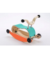 Wishbone Mini-Flip - antemergător / mașină de călărit / balansoar din lemn - Turcoaz cu portocaliu