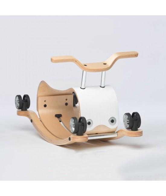Wishbone Flip - antemergător / mașină de călărit / balansoar din lemn