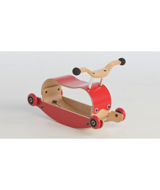 Wishbone Mini-Flip - antemergător / mașină de călărit / balansoar din lemn