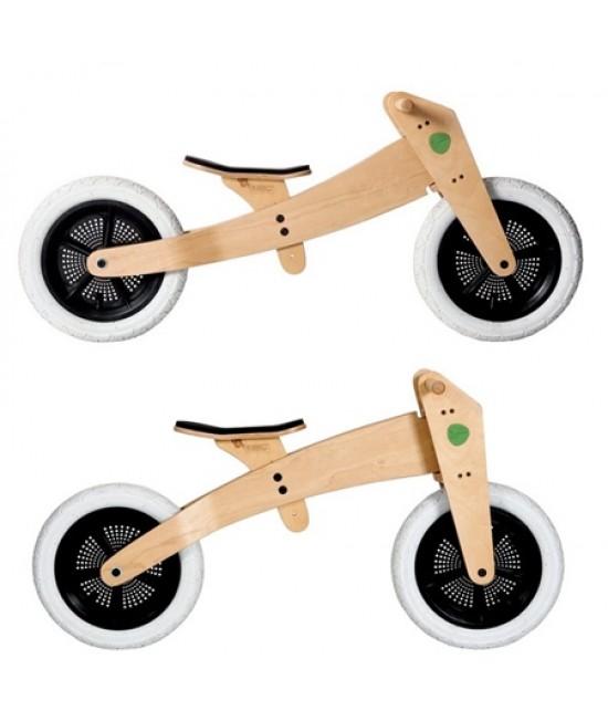 Bicicleta de echilibru Wishbone Design originală 2-în-1 (bicicletă din lemn fără pedale cu 2 roți)